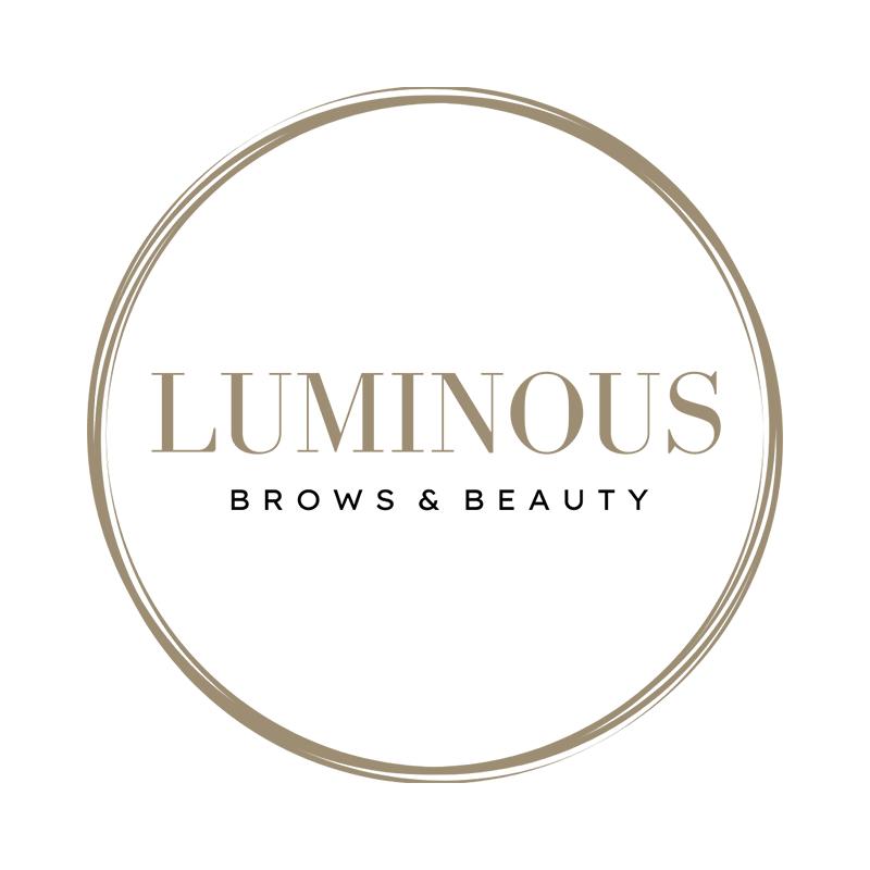 luminous brows and beauty salon logo v2