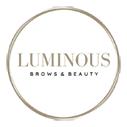 luminous brows and beauty salon logo