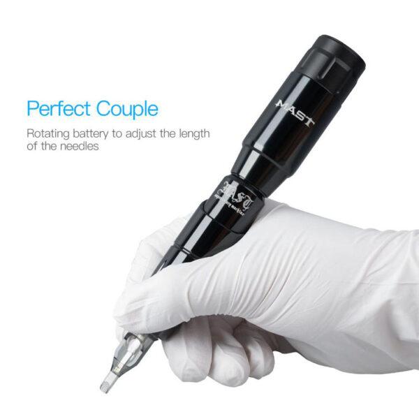 Mast Tour Tattoo Pen Machine 2Pcs Wireless Battery Power Supply (6)